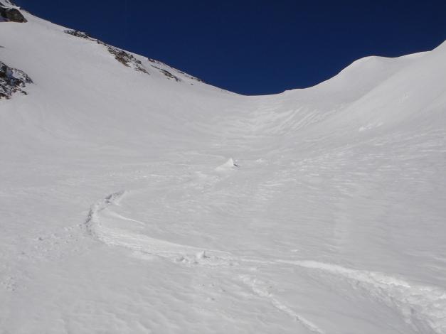 Foto: Manfred Karl / Ski Tour / Schwarzeck, Fuchskar / Variante durch die Mulde östlich des Gipfels (in der Karte gelb eingezeichnet) / 15.02.2009 14:21:42