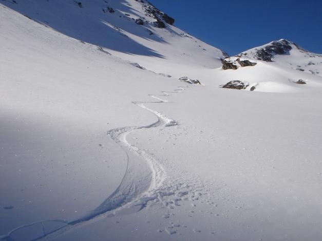 Foto: Manfred Karl / Ski Tour / Schwarzeck, Fuchskar / Meist findet man unberührte Hänge vor / 15.02.2009 14:18:10