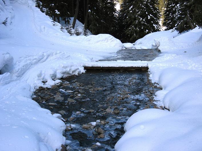 Foto: Andreas Koller / Ski Tour / Rotlahner (2748m) - Paradetour im Gsiesertal  / Der Köfler Bach / 16.02.2009 01:06:10