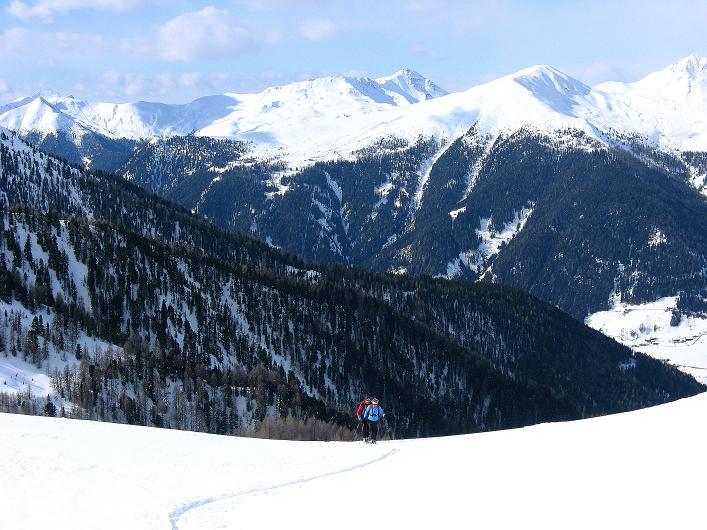 Foto: Andreas Koller / Ski Tour / Rotlahner (2748m) - Paradetour im Gsiesertal  / Kurz oberhalb der Kasmähder Alm / 16.02.2009 01:04:05