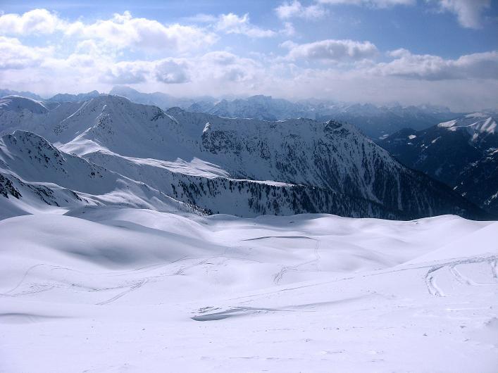 Foto: Andreas Koller / Ski Tour / Rotlahner (2748m) - Paradetour im Gsiesertal  / Blick nach SW / 16.02.2009 01:00:29