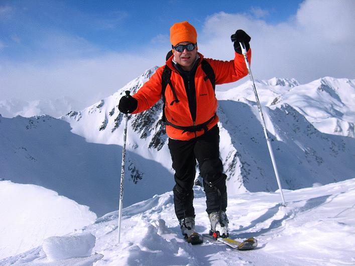 Foto: Andreas Koller / Ski Tour / Rotlahner (2748m) - Paradetour im Gsiesertal  / Am Gipfelgrat / 16.02.2009 00:58:01