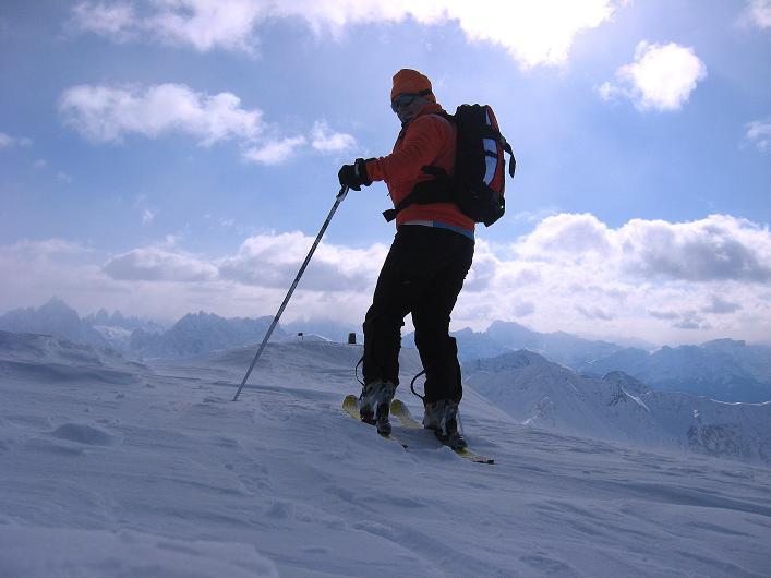 Foto: Andreas Koller / Ski Tour / Rotlahner (2748m) - Paradetour im Gsiesertal  / Nur mehr wenige Meter zum Gipfel / 16.02.2009 00:57:13