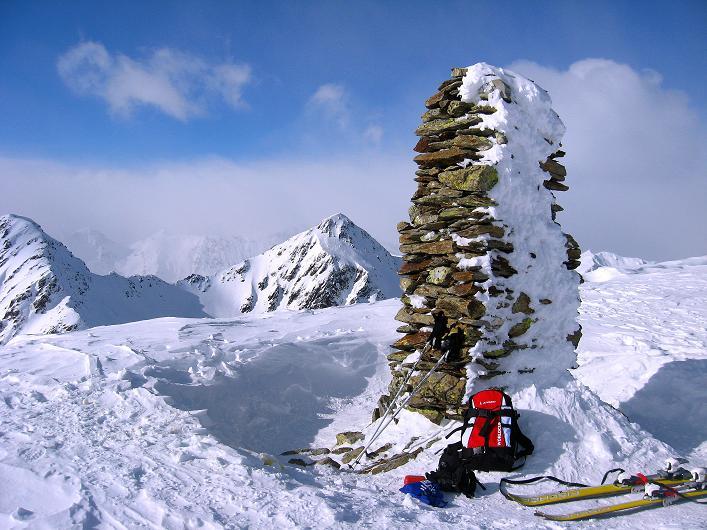 Foto: Andreas Koller / Ski Tour / Rotlahner (2748m) - Paradetour im Gsiesertal  / Der Rotlahner-Gipfel / 16.02.2009 01:09:51