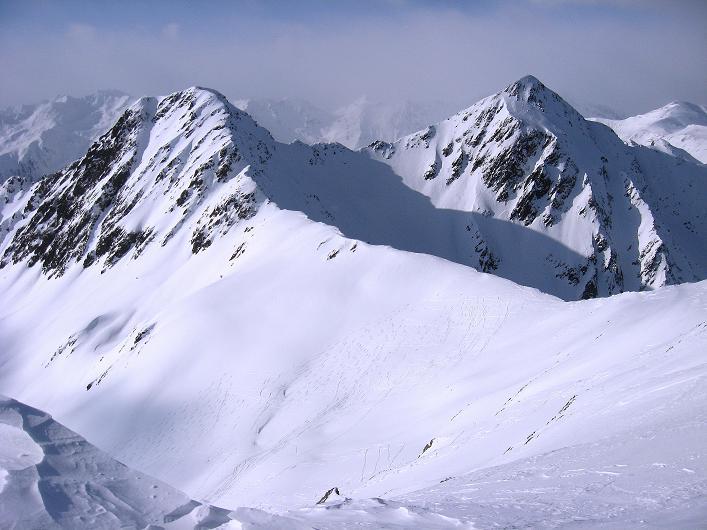 Foto: Andreas Koller / Ski Tour / Rotlahner (2748m) - Paradetour im Gsiesertal  / Große Heimwaldspitze (2755 m), Riepenspitze (2774 m) und Heimwald Jöchl / 16.02.2009 00:54:25