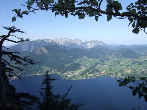 Foto: hofchri / Klettersteig Tour / Traunstein (1691 m) - Die Klettersteig-Quadrilogie / Aussicht vom Hernlersteig / 20.02.2009 20:09:12