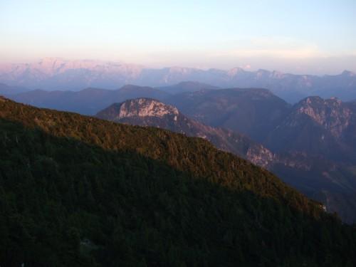 Foto: hofchri / Klettersteig Tour / Traunstein (1691 m) - Die Klettersteig-Quadrilogie / romantische Abendstimmung / 20.02.2009 20:16:06