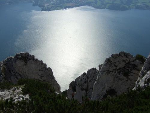 Foto: hofchri / Klettersteig Tour / Traunstein (1691 m) - Die Klettersteig-Quadrilogie / Immer ein toller Ausblick vom Steig / 20.02.2009 20:17:34