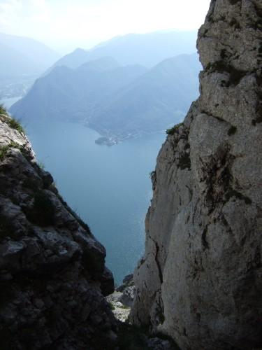 Foto: hofchri / Klettersteig Tour / Traunstein (1691 m) - Die Klettersteig-Quadrilogie / beim der Bösen Ecke / 20.02.2009 20:18:10