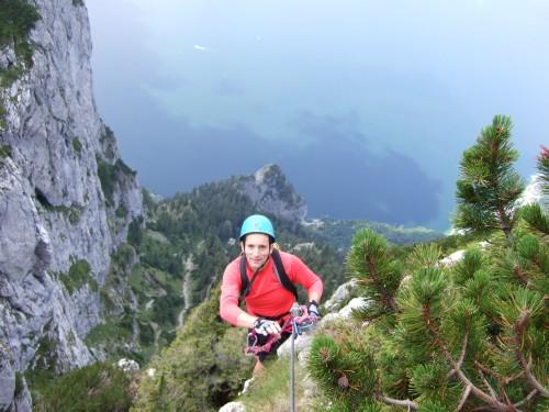 Foto: hofchri / Klettersteig Tour / Traunstein (1691 m) - Die Klettersteig-Quadrilogie / Ausstieg aus Schlusswand (C) / 20.02.2009 20:12:43
