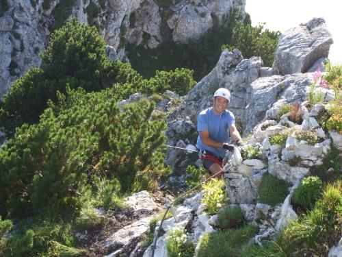 Foto: hofchri / Klettersteig Tour / Traunstein (1691 m) - Die Klettersteig-Quadrilogie / vor der Gmundener Hütte (A) / 20.02.2009 20:13:56
