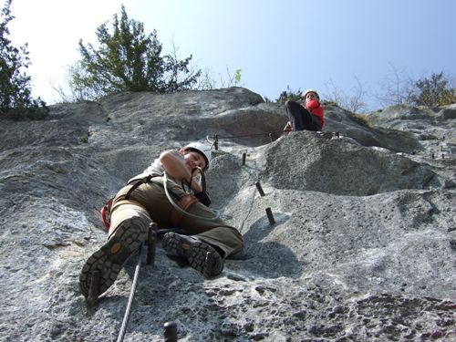 Foto: hofchri / Klettersteig Tour / Predigstuhl (1278 m) - Die Klettersteig-Trilogie / Höhenweg-Klettersteig in einer anderen Perspektive / 24.04.2010 20:50:06