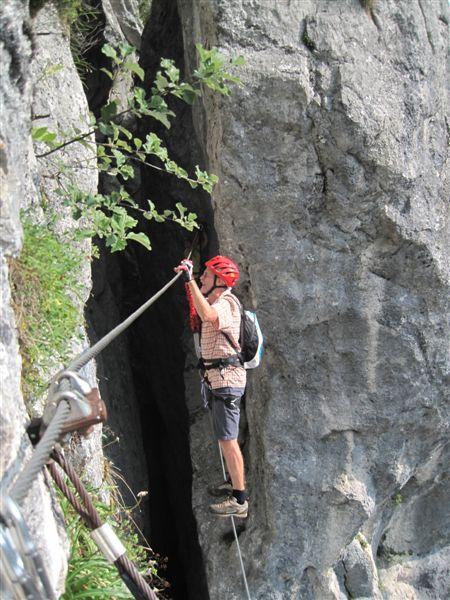 Foto: Heidi Schützinger / Klettersteig Tour / Predigstuhl (1278 m) - Die Klettersteig-Trilogie / Der Mein Land Dein Land Klettersteig bietet Abenteuer und Genuss  / 24.07.2015 18:52:32