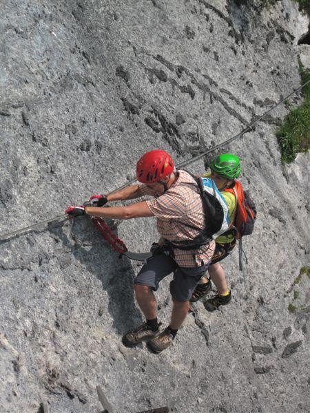 Foto: Heidi Schützinger / Klettersteig Tour / Predigstuhl (1278 m) - Die Klettersteig-Trilogie / Herrliche Kombination diese zwei Klettersteige am heutigen Tag  / 24.07.2015 18:50:14