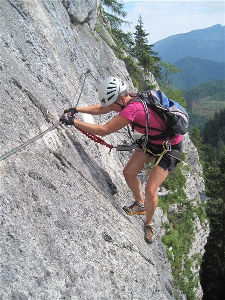 Foto: Heidi Schützinger / Klettersteig Tour / Predigstuhl (1278 m) - Die Klettersteig-Trilogie / Schöner Klettersteig  / 24.07.2015 18:49:19