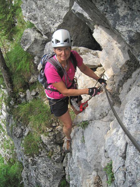 Foto: Heidi Schützinger / Klettersteig Tour / Predigstuhl (1278 m) - Die Klettersteig-Trilogie / heute war der perfekte Tag für die Kombination aus dem Leadership und Mein Land dein Land Klettersteig / 24.07.2015 18:43:45
