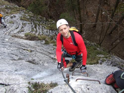 Foto: hofchri / Klettersteig Tour / Predigstuhl (1278 m) - Die Klettersteig-Trilogie / steiler Aufschwung / 20.02.2009 20:31:44