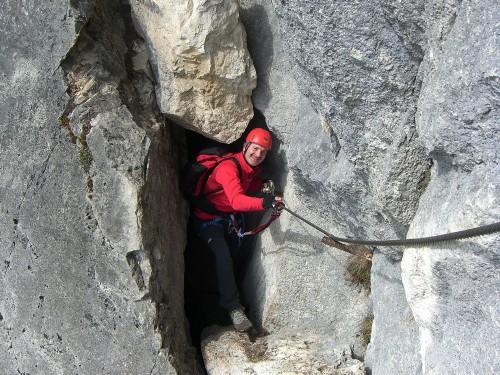 Foto: hofchri / Klettersteig Tour / Predigstuhl (1278 m) - Die Klettersteig-Trilogie / Duchlass nach Kamin (C) / 20.02.2009 20:32:53