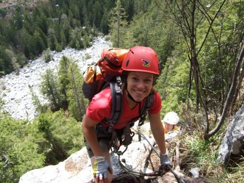 Foto: hofchri / Klettersteig Tour / Predigstuhl (1278 m) - Die Klettersteig-Trilogie / zum ausgesetzten Grat / 20.02.2009 20:33:53