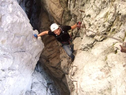 Foto: hofchri / Klettersteig Tour / Predigstuhl (1278 m) - Die Klettersteig-Trilogie / Aufstieg B bis C / 20.02.2009 20:29:32