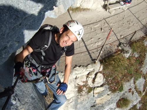 Foto: hofchri / Klettersteig Tour / Predigstuhl (1278 m) - Die Klettersteig-Trilogie / Höhenweg-Klettersteig (Ewige Wand) - Einstieg bei Tunnel (B/C) / 20.02.2009 20:35:54