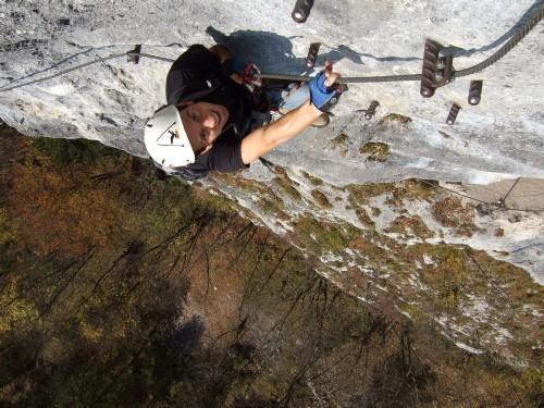 Foto: hofchri / Klettersteig Tour / Predigstuhl (1278 m) - Die Klettersteig-Trilogie / glatte Platte (C/D) / 20.02.2009 20:36:37