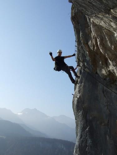 Foto: hofchri / Klettersteig Tour / Predigstuhl (1278 m) - Die Klettersteig-Trilogie / extrem ausgesetzt in der Ewigen Wand / 20.02.2009 20:37:36