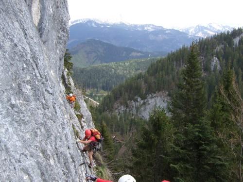 Foto: hofchri / Klettersteig Tour / Predigstuhl (1278 m) - Die Klettersteig-Trilogie / lange Querung / 20.02.2009 20:31:16