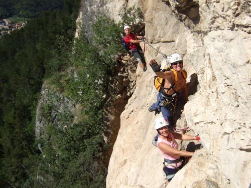 """Foto: hofchri / Klettersteig Tour / Monte Albano (695 m) über Ferrata """"Monte Albano""""  / schön ausgesetzt / 20.02.2009 21:30:11"""
