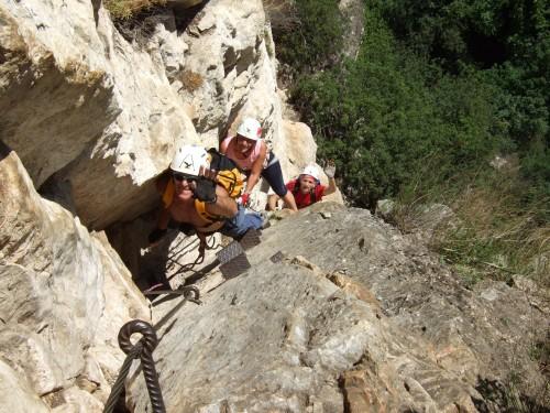 """Foto: hofchri / Klettersteig Tour / Monte Albano (695 m) über Ferrata """"Monte Albano""""  / steile, schwierige Verschneidung (D und C) / 20.02.2009 21:30:38"""