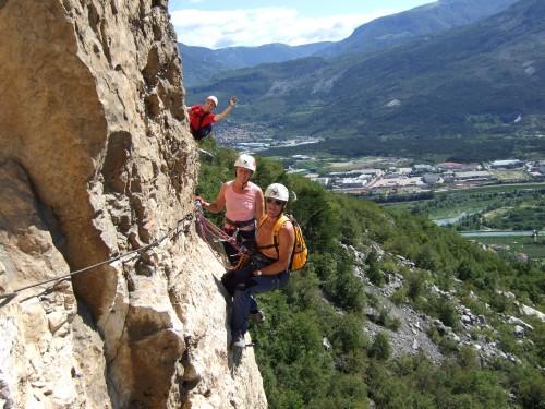 """Foto: hofchri / Klettersteig Tour / Monte Albano (695 m) über Ferrata """"Monte Albano""""  / am Weg zum Engelsband / 20.02.2009 21:31:07"""