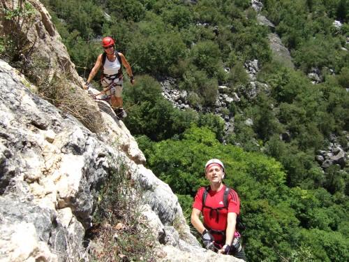 """Foto: hofchri / Klettersteig Tour / Monte Albano (695 m) über Ferrata """"Monte Albano""""  / extrem exponierter Quergang (C) / 20.02.2009 21:31:30"""