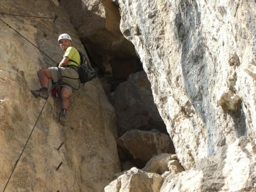 """Foto: hofchri / Klettersteig Tour / Monte Albano (695 m) über Ferrata """"Monte Albano""""  / Aufschwung zum großen Band (C und B) / 20.02.2009 21:32:04"""