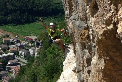 """Foto: hofchri / Klettersteig Tour / Monte Albano (695 m) über Ferrata """"Monte Albano""""  / kleines Band / 20.02.2009 21:34:16"""