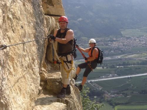 """Foto: hofchri / Klettersteig Tour / Monte Albano (695 m) über Ferrata """"Monte Albano""""  / ausgesetzte Platte (C) / 20.02.2009 21:37:47"""