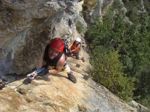 """Foto: hofchri / Klettersteig Tour / Monte Albano (695 m) über Ferrata """"Monte Albano""""  / steile Schlusswand (C bis D) / 20.02.2009 21:41:13"""