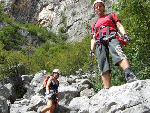 """Foto: hofchri / Klettersteig Tour / Monte Albano (695 m) über Ferrata """"Monte Albano""""  / viele Felsblöcke sind abzuklettern / 20.02.2009 21:42:08"""