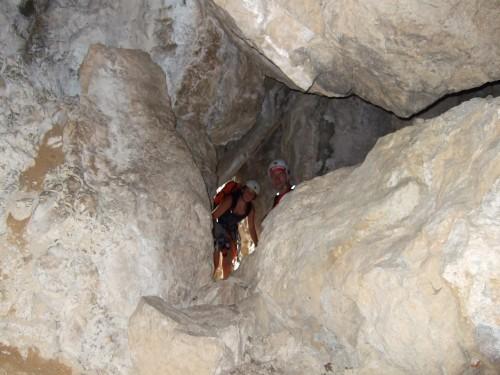 """Foto: hofchri / Klettersteig Tour / Monte Albano (695 m) über Ferrata """"Monte Albano""""  / Felsspalt als Durchlass / 20.02.2009 21:42:30"""