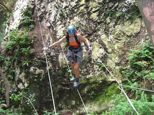 """Foto: hofchri / Klettersteig Tour / Castello di Drena (350 m) über Ferrata """"Rio Sallagoni""""  / von der anderen Seite / 20.02.2009 21:07:20"""