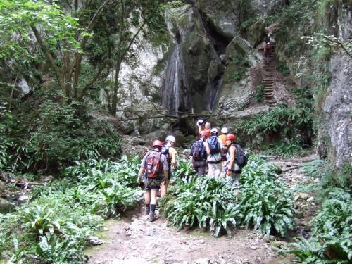 """Foto: hofchri / Klettersteig Tour / Castello di Drena (350 m) über Ferrata """"Rio Sallagoni""""  / wie im Dschungel / 20.02.2009 21:08:32"""