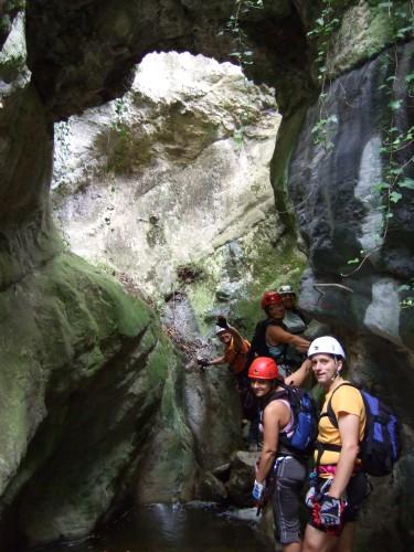 """Foto: hofchri / Klettersteig Tour / Castello di Drena (350 m) über Ferrata """"Rio Sallagoni""""  / die Schlucht wird wieder enger / 20.02.2009 21:10:02"""