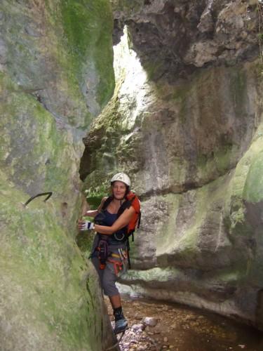 """Foto: hofchri / Klettersteig Tour / Castello di Drena (350 m) über Ferrata """"Rio Sallagoni""""  / fast nasse Füße / 20.02.2009 21:10:18"""
