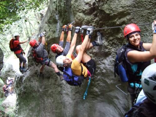 """Foto: hofchri / Klettersteig Tour / Castello di Drena (350 m) über Ferrata """"Rio Sallagoni""""  / teils überhängende Wände (C) / 20.02.2009 21:04:27"""