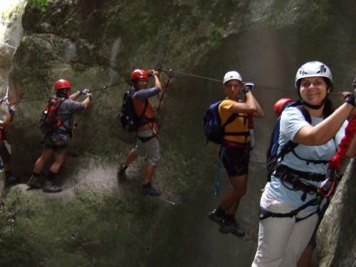 """Foto: hofchri / Klettersteig Tour / Castello di Drena (350 m) über Ferrata """"Rio Sallagoni""""  / tolle Lichstimmung / 20.02.2009 21:04:41"""