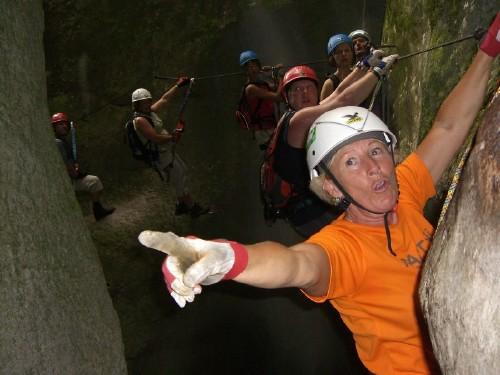 "Foto: hofchri / Klettersteig Tour / Castello di Drena (350 m) über Ferrata ""Rio Sallagoni""  / Echo / 20.02.2009 21:04:55"