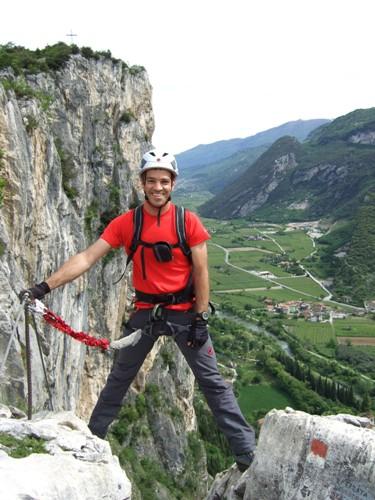 """Foto: hofchri / Klettersteig Tour / Colodri (400 m) über Ferrata """"Sentiero del Colodri""""  / Ausstieg aus dem Klettersteig / 18.05.2010 19:57:24"""