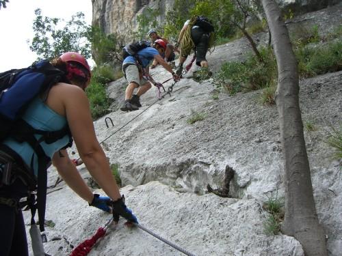 "Foto: hofchri / Klettersteig Tour / Colodri (400 m) über Ferrata ""Sentiero del Colodri""  / steil gestuft  (A/B) / 20.02.2009 21:12:16"