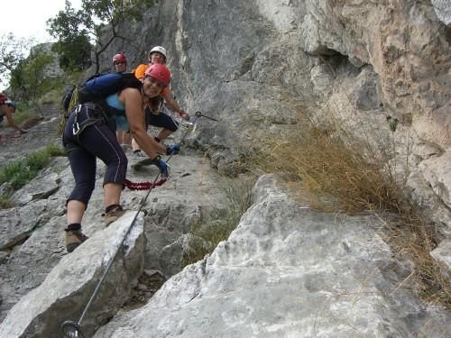 """Foto: hofchri / Klettersteig Tour / Colodri (400 m) über Ferrata """"Sentiero del Colodri""""  / über Platten aufwärts (A/B) / 20.02.2009 21:12:35"""