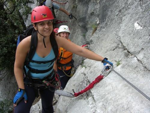 "Foto: hofchri / Klettersteig Tour / Colodri (400 m) über Ferrata ""Sentiero del Colodri""  / am Ausstieg / 20.02.2009 21:13:17"