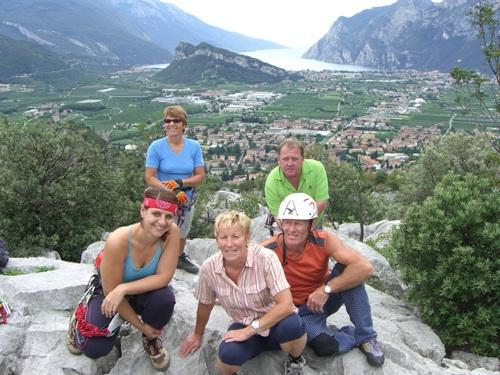 "Foto: hofchri / Klettersteig Tour / Colodri (400 m) über Ferrata ""Sentiero del Colodri""  / am Gipfel des Colodri / 20.02.2009 21:13:30"